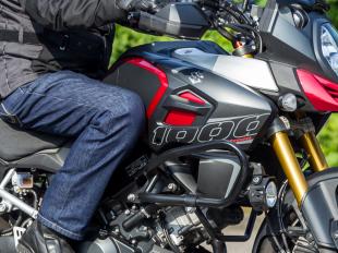Jeans auf dem Motorrad